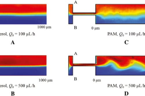 Experimental Study on the Viscoelastic Flow Mixing in Microfluidics